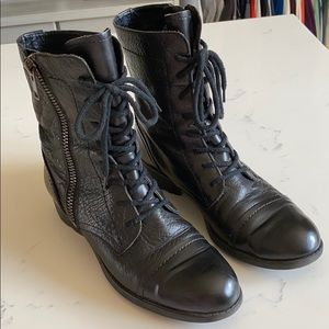 Franco Sarto black booties with tread 8.5 ladies